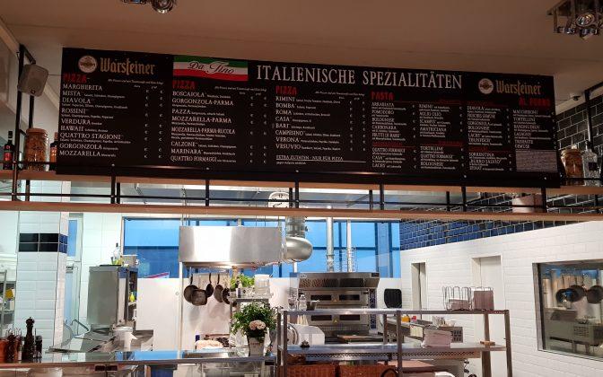 da Tino / Markthalle Langenhagen - individuelle Menü Tafel Gestaltung, Folienplott inclusive Montage