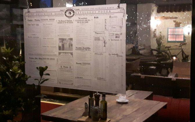 Restaurant Menükarte / individuelle Gestaltung mit Direktdruck auf Plexiglas